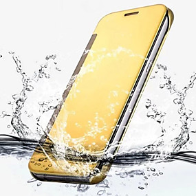 voordelige Galaxy S6 Edge Plus Hoesjes / covers-hoesje Voor Samsung Galaxy S7 edge / S7 / S6 edge plus Beplating / Flip / Transparant Volledig hoesje Effen PC