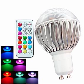 ieftine Becuri LED Glob-Bulb LED Glob 400 lm GU10 A60(A19) 3 LED-uri de margele LED Putere Mare Intensitate Luminoasă Reglabilă Telecomandă Decorativ RGB 100-240 V / 1 bc / RoHs
