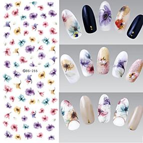 ieftine Acțibilde Unghii-1 pcs 3D Acțibilduri de Unghii Bijuterie unghii Aplicația de transfer de apă nail art pedichiura si manichiura Floare / Modă Zilnic / PVC / Unghiul de bijuterii / 3D pentru autocolante