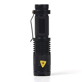 olcso Zseblámpák-SK68 LED zseblámpák LED Cree® XR-E Q5 1 Sugárzók 2000 lm 1 világítás mód Nagyítható Vízálló Állítható fókusz Kempingezés / Túrázás / Barlangászat Mindennapokra Rendőr / Katonaság Fekete
