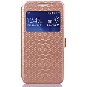 voordelige Galaxy Grand Prime Hoesjes / covers-hoesje Voor Samsung Galaxy Grand Prime Kaarthouder / met standaard / met venster Volledig hoesje Geometrisch patroon PU-nahka