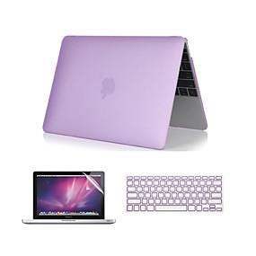 billige Mac-etuier, Mac-tasker og Mac-covers-macbook taske med tastaturbetræk til Apple Macbook Air Pro retina 11 12 13 15 laptop cover solid farvet gennemsigtigt matt pvc sag med touch bar