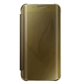 voordelige Galaxy S7 Edge Hoesjes / covers-hoesje Voor Samsung Galaxy S7 edge plus / S7 edge / S7 Flip / Doorzichtig Volledig hoesje Effen PC