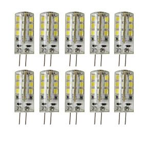 povoljno LED svjetla s dvije iglice-brelong 10 kom g4 24led smd2835 dimmable dekorativni kukuruzno svjetlo dc12v bijelo / toplo bijelo