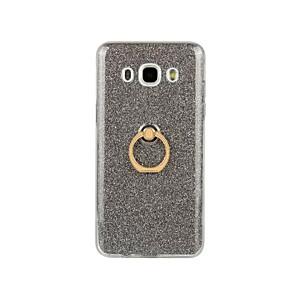 voordelige Galaxy J3 Hoesjes / covers-hoesje Voor Samsung Galaxy J7 (2016) / J5 (2016) / J3 (2016) Ringhouder Achterkant Glitterglans Zacht TPU