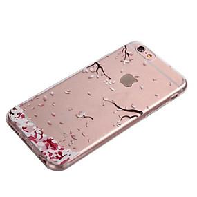 levne iPhone pouzdra-Carcasă Pro Apple iPhone 8 / iPhone 8 Plus / iPhone 6 Plus Průhledné Zadní kryt Květiny Měkké TPU pro iPhone 8 Plus / iPhone 8 / iPhone 7 Plus