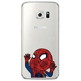 voordelige Galaxy S7 Edge Hoesjes / covers-hoesje Voor Samsung Galaxy S7 edge / S7 / S6 edge plus Transparant / Patroon Achterkant Cartoon Zacht TPU