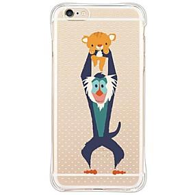 Недорогие Кейсы для iPhone 5S/SE-Кейс для Назначение Apple iPhone X / iPhone 8 / iPhone 6 Plus Защита от удара / Защита от пыли / Прозрачный Кейс на заднюю панель Животное Мягкий ТПУ для iPhone X / iPhone 8 Pluss / iPhone 8