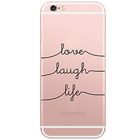 abordables Coques d'iPhone-Coque Pour Apple iPhone X / iPhone 8 / iPhone 6 Plus Motif Coque Mot / Phrase Dur PC pour iPhone X / iPhone 8 Plus / iPhone 8