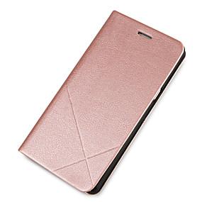 voordelige Galaxy J7 Hoesjes / covers-hoesje Voor Samsung Galaxy J7 (2016) / J7 / J5 (2016) Kaarthouder / met standaard / Flip Volledig hoesje Effen Hard PU-nahka