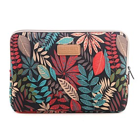 "cheap Laptop Gadgets-13"" 14"" 15.6"" Colorful coleus Pattern Canvas Bag Computer Protective Sleeve Case for Macbook 13 /15 HP lenovo"