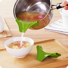 ieftine Ustensile Bucătărie & Gadget-uri-pâlnia de silicon turnă oțelul de turnare rotund deflector de margine instrumente de bucătărie