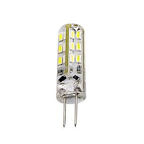 billige LED-lamper med G-sokkel-1 stk 1.5w g4 ledet pære bipstang 24 smd 3014 dc 12v grøn blå rødt lys