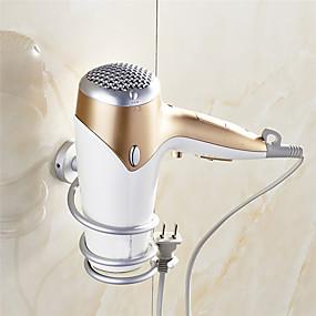 povoljno Gadgeti za kupaonicu-1pc aluminij kupaonica zidna polica zidni sušilo za kosu stalak za pohranu sušilo za podršku nosač spirale