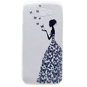 voordelige Galaxy A3(2016) Hoesjes / covers-hoesje Voor Samsung Galaxy A3 (2017) / A5 (2017) / A7 (2017) Reliëfopdruk / Patroon Achterkant Sexy dame Zacht TPU
