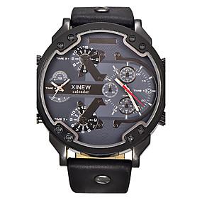 079b6986a0c9 abordables Relojes de Vestir-Hombre Reloj Deportivo Reloj Militar Reloj de  Pulsera Cuarzo De Gran