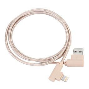 halpa JDB-USB 3.0 / Valaistus Kaapeli 1m-1.99m / 3ft-6ft Punottu Nylon USB-kaapelisovitin Käyttötarkoitus iPad / Apple / iPhone