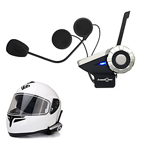 voordelige Motorhelm headsets-freedconn 1pcs t-rex full duplex 1500m 8-weg motorfiets groep talk systeem bt intercominstallatie fm radio draadloze bluetooth helm