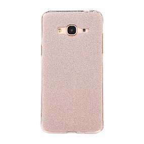 voordelige Galaxy J3 Hoesjes / covers-hoesje Voor Samsung Galaxy J7 (2016) / J5 (2016) / J3 (2016) Mat Achterkant Glitterglans Zacht TPU