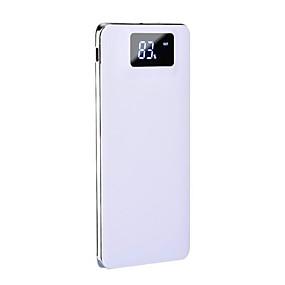 billige Batteribanker-10000mah power bank ekstern batterioplader 5v 1a / 2a dual usb port / lommelygte / med kabel / multi-output LCD display