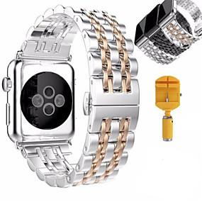 저렴한 오늘의 특가-시계 밴드 용 Apple Watch Series 4/3/2/1 Apple 나비 버클 스테인레스 스틸 손목 스트랩