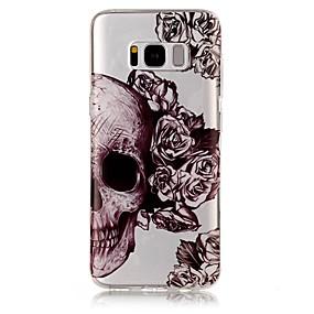 voordelige Galaxy S7 Edge Hoesjes / covers-hoesje Voor Samsung Galaxy S8 Plus / S8 / S7 edge IMD / Transparant / Patroon Achterkant Doodskoppen Zacht TPU