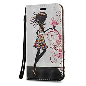 voordelige Galaxy S6 Edge Plus Hoesjes / covers-hoesje Voor Samsung Galaxy S8 Plus / S8 / S7 edge Kaarthouder / met standaard / Flip Volledig hoesje Sexy dame Hard PU-nahka