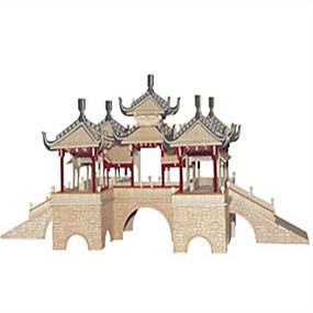 olcso Játékok & hobbi-Barkács készlet Építőkockák 3D építőjátékok Fejlesztő játék Fejtörő Fából készült építőjátékok Játékok Négyzet Kastély Népszerű épület