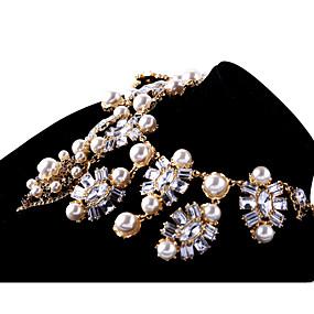 billige Strand Halskæder-Dame Krystal Strands halskæde Personaliseret Vintage Euro-Amerikansk Chrome Sølv Halskæder Smykker Til Bryllup Fest Tillykke