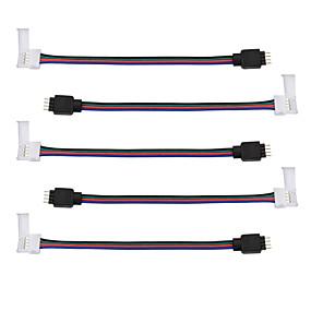 Недорогие RGB контроллеры-5 шт. Светодиодный коннектор 5050 rgb - переходник для подключения к электросети - 5050 к разъему постоянного тока трансформатора - 4-проводная широкополосная сварка 5050 rgb