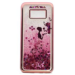 voordelige Galaxy S7 Hoesjes / covers-hoesje Voor Samsung Galaxy S8 Plus / S8 / S7 edge Beplating / Stromende vloeistof / Patroon Achterkant Vlinder / Sexy dame / Glitterglans Zacht TPU