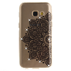 voordelige Galaxy A3(2016) Hoesjes / covers-hoesje Voor Samsung Galaxy A3 (2017) / A5 (2017) / A5(2016) Strass / IMD / Transparant Achterkant Bloem Zacht TPU