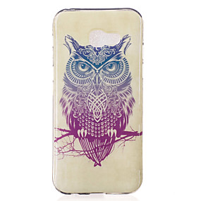 voordelige Galaxy A5(2016) Hoesjes / covers-hoesje Voor Samsung Galaxy A3 (2017) / A5 (2017) / A7 (2017) IMD / Patroon Achterkant Uil Zacht TPU
