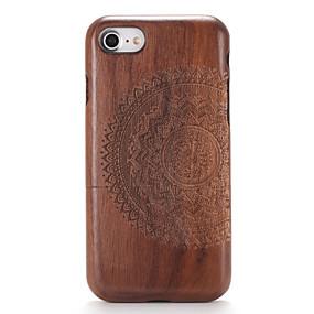 levne iPhone pouzdra-Carcasă Pro Apple iPhone 7 / iPhone 7 Plus Vytlačený vzor / Vzor Zadní kryt Textura dřeva / Mandala Pevné Dřevěný pro iPhone 7 Plus / iPhone 7 / iPhone 6s Plus