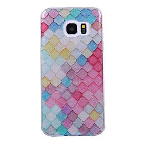 halpa Galaxy S -sarjan kotelot / kuoret-Etui Käyttötarkoitus Samsung Galaxy S8 Plus / S8 IMD / Kuvio Takakuori Geometrinen printti / Kimmeltävä Pehmeä TPU varten S8 Plus / S8 / S7 edge