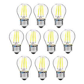 16fd42e600e cheap LED Filament Bulbs-BRELONG® 10pcs 4 W LED Filament Bulbs 300 lm E27