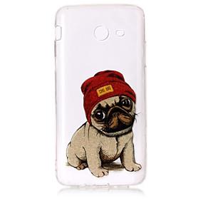 voordelige Galaxy J3 Hoesjes / covers-hoesje Voor Samsung Galaxy J7 V / J7 Perx / J7 (2016) IMD / Patroon Achterkant Hond / Glitterglans Zacht TPU