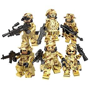 olcso Modellek és építőjáték-DILONG Építőkockák Katonai blokkok Építőkocka minifigurák Katonai Katona Háború II összeegyeztethető Legoing Uniszex Játékok Ajándék / Fejlesztő játék