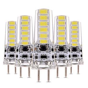 رخيصةأون مصابيح ليد ثنائية-YWXLIGHT® 5pcs 4 W أضواء LED Bi Pin 300-400 lm T 12 الخرز LED SMD 5730 تخفيت ديكور أبيض دافئ أبيض كول 12-24 V 12 V / 5 قطع