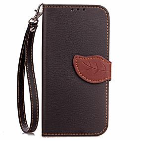 Недорогие Чехлы и кейсы для Galaxy Note 2-Кейс для Назначение SSamsung Galaxy Note 5 / Note 4 / Note 3 Кошелек / Бумажник для карт / со стендом Чехол Однотонный Твердый Кожа PU