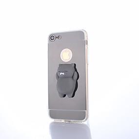 olcso iPhone tokok-Case Kompatibilitás Apple iPhone 8 Plus Tükör / DIY / pépes Fekete tok Egyszínű Kemény PC mert iPhone X / iPhone 8 Plus / iPhone 8