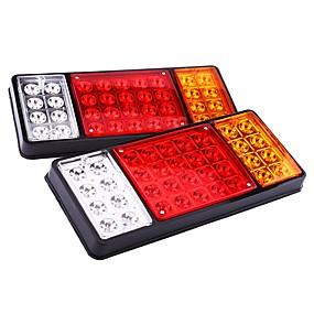 billiga Bakljus-ziqiao 1 par 12v 36 ledare lastbil svans ljus varningslampor baklampor vattentäta passagerare bakdelar för trailer lastbil