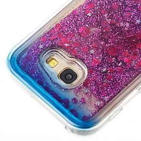 voordelige Galaxy A5(2016) Hoesjes / covers-hoesje Voor Samsung Galaxy A3 (2017) / A5 (2017) / A5(2016) Stromende vloeistof Achterkant Glitterglans Zacht TPU