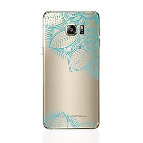 halpa Galaxy S -sarjan kotelot / kuoret-Etui Käyttötarkoitus Samsung Galaxy S8 Plus / S8 Läpinäkyvä / Kuvio Takakuori Sydän / Lace Printing Pehmeä TPU varten S8 Plus / S8 / S7 edge