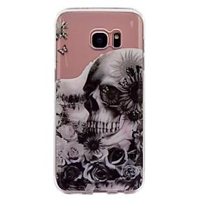 voordelige Galaxy S7 Hoesjes / covers-hoesje Voor Samsung Galaxy S8 Plus / S8 IMD / Transparant / Patroon Achterkant Doodskoppen / Bloem Zacht TPU voor S8 Plus / S8 / S7 edge
