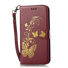 abordables Accessoires Samsung-Coque Pour Samsung Galaxy J7 (2017) / J3 (2017) Portefeuille / Porte Carte / Avec Support Coque Intégrale Couleur Pleine Dur faux cuir pour J7 V / J7 (2017) / J7 (2016)