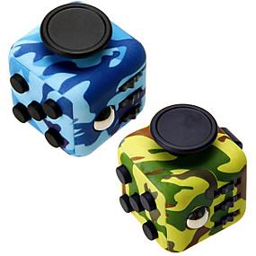 olcso Oktatási játékok-Fidget Toys Fidget Cube Rubik-kocka Tudományos játékok Stresszoldó Fejlesztő játék Játékok Négyzet Újdonság 3D Szilikongumi Műanyag