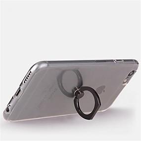 abordables Coques d'iPhone-Coque Pour Apple iPhone X / iPhone 8 / iPhone 8 Plus Anneau de Maintien / Rotation 360° Coque Transparente Flexible TPU pour iPhone X / iPhone 8 Plus / iPhone 8
