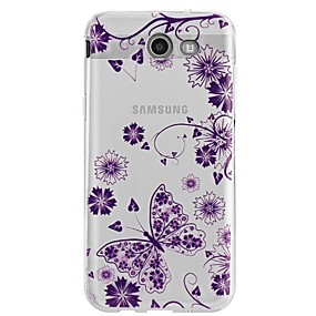 voordelige Galaxy J1 Hoesjes / covers-hoesje Voor Samsung Galaxy J7 V / J7 Perx / J7 (2017) Ultradun / Transparant / Patroon Achterkant Bloem Zacht TPU