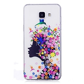 voordelige Galaxy A3(2016) Hoesjes / covers-hoesje Voor Samsung Galaxy A3 (2017) / A5 (2017) / A5(2016) IMD / Transparant / Patroon Achterkant Sexy dame / Bloem Zacht TPU